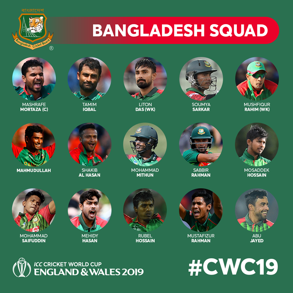 Bangladesh World Cup 19 Squad