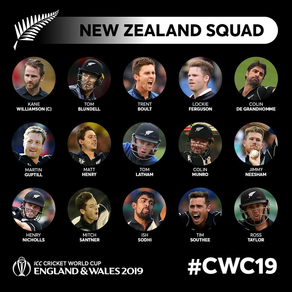 New Zealand CWC 19 Squad