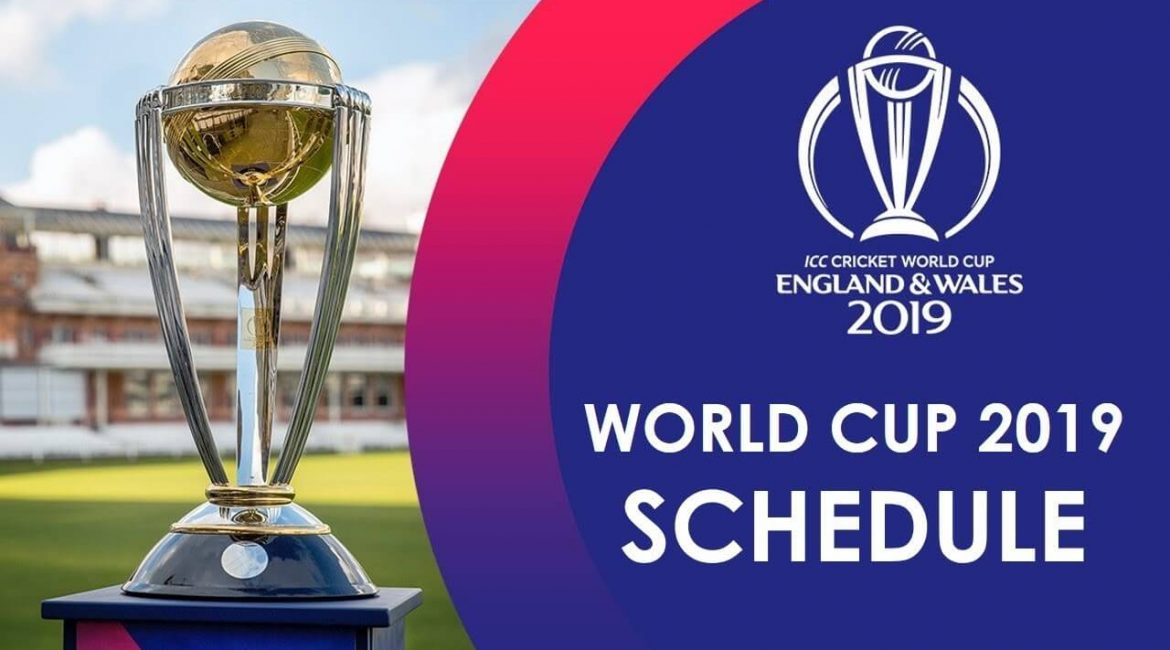 Cricket World Cup 19 Complete Fixtures