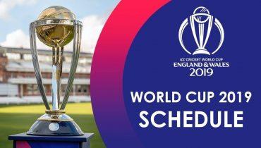 Cricket World Cup 19 Complete Fixtures