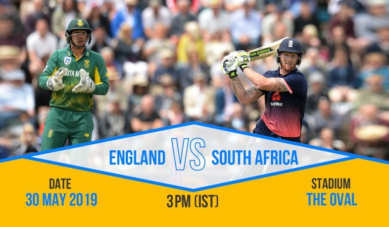 south africa vs england World Cup opener